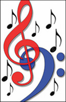 Recital Program #80 - Red & Blue Clefs - 25 Pkg