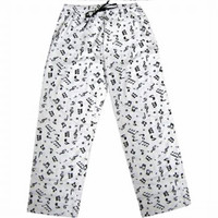 FLANNEL PANTS MUSIC NOTES - LARGE