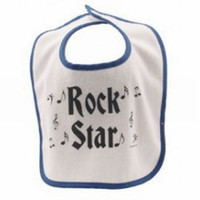 Rock n' Roll Baby Bib - Blue