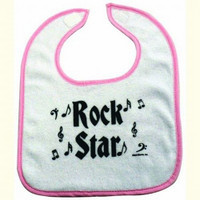 Rock n' Roll Baby Bib - Pink