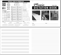Music Dictation Book - 8 Stave - 24 pages