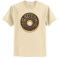 Gretsch - Beige Roundbadge Drum Logo Tee - X-Large