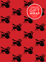 Hal Leonard Wrapping Paper – Drumset Theme
