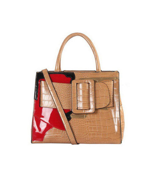 Maxie Buckle Tote- Tan