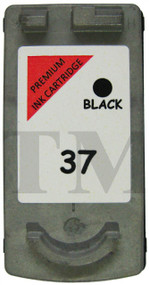 Canon PG-37 Remanufactured Ink Cartridge - High Capacity Black Ink Cartridge - Compatible For ( PG-37, 2145B001)
