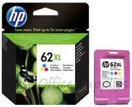 HP 62 XL Original Tri-Colour Ink Cartridge (C2P07AE, C2P07A, HP 62XL, HP62XL)