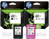 HP Original 62 XL Multipack Ink Cartridges (C2P05AE/C2P07AE)