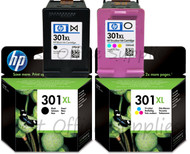 HP Original 301 XL Black & Colour Set Ink Cartridge (CH563EE/CH564EE)