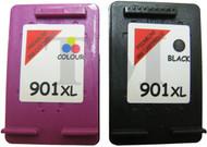 HP 901 XL Reman Bundle - (1 x 901xl Black + 1 x 901xl Colour)