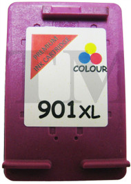 HP 901 XL Remanufactured Ink Cartridge - High Capacity Tri-Colour Ink Cartridge - Compatible For  (CC656AE, HP901, 901)