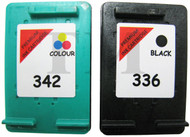 HP 336 & HP 342 Remanufactured Ink Cartridges Multipack- High Capacity Black & Tri-Colour Ink Cartridges - Compatible For  (C9362EE, C9361EE, HP 336 , HP 342)