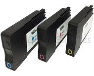 Remanufactured 953XL Colour Set C,M,Y Ink Cartridges fits HP Officejet Pro 8740