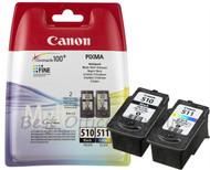 Canon Original PG-510 & CL-511 Ink Cartridges for Canon Pixma Printers