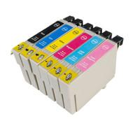 T378 Black & Colour 6 Pack Ink Cartridges Compatible for Epson PX800FW(non-oem)
