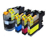 Brother LC123 XL Compatible Ink Cartridges Multipack Pack - High Capacity 4 Colour - Black / Cyan / Magenta / Yellow