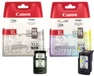 Canon Original PG-512 Black & CL-513 Colour Set Ink Cartridges
