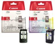 Canon Original PG-512 Black & CL-513 Colour Set Ink Cartridges