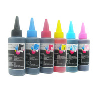 Dye Based CISS Ink Refill Bottle 600ml Black, Cyan, Magenta, Yellow, Light Cyan, Light Magenta Set