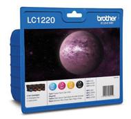 Brother LC1220 Original Ink Cartridges Multipack - High Capacity 4 Colour Black / Cyan / Magenta / Yellow