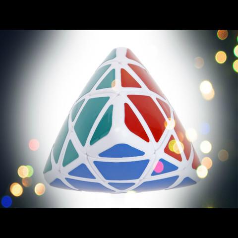 IQ Pyramid - WHITE IQBG008300 by IQCUBES.COM