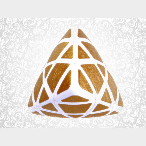 IQ Pyramid - GOLDEN IQBG006800 by IQCUBES.COM