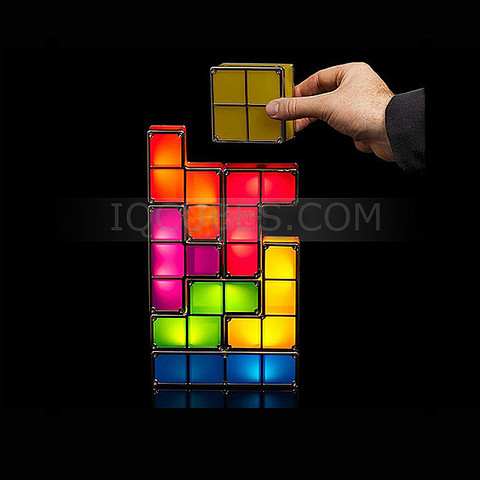 Tetris Stackable LED Desk Lamp IQCUBES.com TDIGI015400
