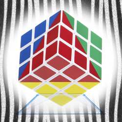 Ultimate 4-Color Diagonal Matrix IQ Cube (INNV007100) by IQCUBES.COM