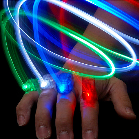 4 Colors Finger LED Torch (ACCE008400) by IQCUBES.COM