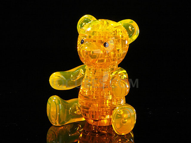 3D Crystal Puzzle - BEAR (IQBG002400) by IQCUBES.COM