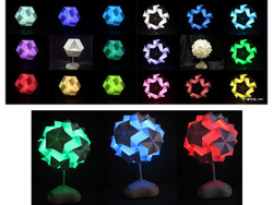 DIY Origami Paper Art Light - 16 Million Colors LED Lamp