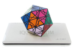 Glittery Twisty Giant ICOSAHEDRON Brick (IQBG010700) by IQCUBES.COM