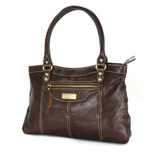 aretha 141021 Leather top handle bag Brown