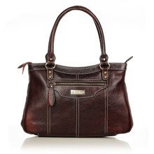 aretha 141021 Leather top handle bag red