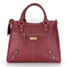 aretha 141031 Leather top handle bag red