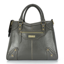 aretha 141031 Leather top handle bag grey