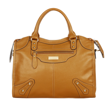 aretha 141061 Leather top handle bag yellow