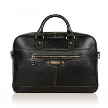 aretha 141081 Genuine Leather Briefcase black