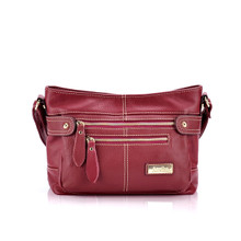 aretha 141091 Genuine Leather crossbody bags red