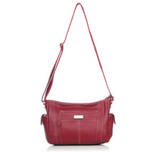 aretha 141111 Genuine Leather crossbody bags red