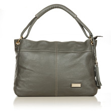 aretha 141121 Genuine Leather shoulder bag grey
