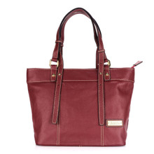 aretha 141151 Genuine Leather shoulder bag red