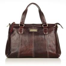 aretha 141201 Genuine Leather shoulder bag red