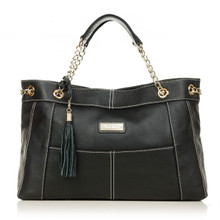 aretha 141211 Genuine Leather shoulder bag black