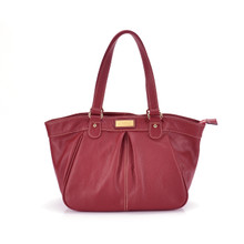 aretha 141221 Genuine Leather shoulder bag red