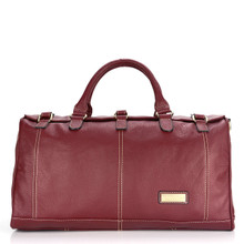 aretha 141231 Genuine Leather large travel bags red