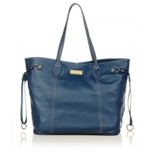 aretha 141261 Genuine Leather shoulder bag blue