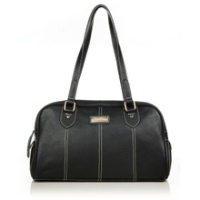 aretha 141281 Genuine Leather shoulder bag black