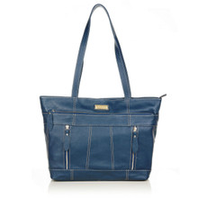 aretha 141281 Genuine Leather shoulder bag blue
