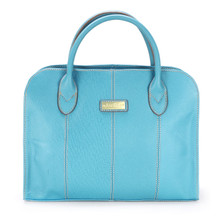 aretha 141330 Genuine Leather top handle bag blue
