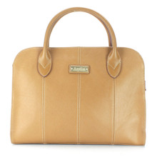 aretha 141330 Genuine Leather top handle bag khaki